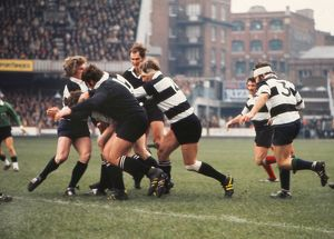 The Barbarians on the attack against the All Blacks in 1973