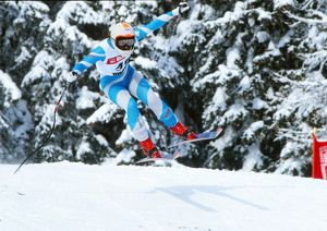 Clare Booth - 1986 FIS World Cup - Crans-Montana