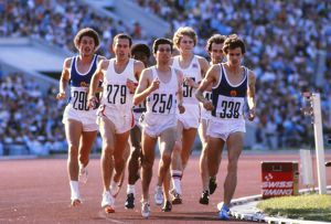 Coe, Cram and Ovett race for Great Britain in the 1980 Olympic 1500m Final