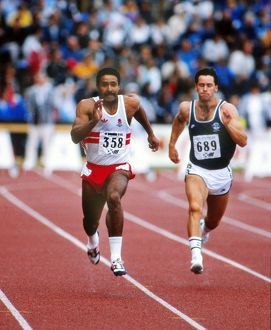 Daley Thompson at the 1986 Edinburgh Commonwealth Games