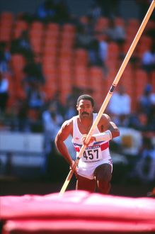 Daley Thompson during the 1988 Olympic decathlon