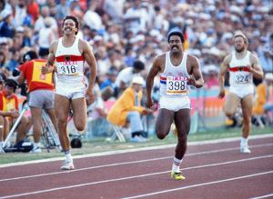 Daley Thompson and Jurgen Hingsen - 1984 Los Angeles Olympics