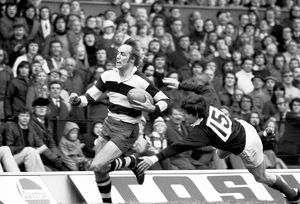 David Duckham makes a break for Coventry in the 1974 RFU Cup Final