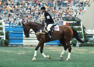 Debbie Johnsey on Moxy - 1976 Montreal Olympics