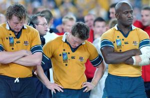 Dejected Australian players after losing the 2003 World Cup Final