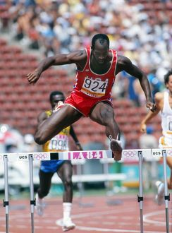 Ed Moses at the 1984 Los Angeles Olympics