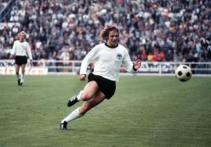 Erwin Kramers chases the ball during the Euro 72 final
