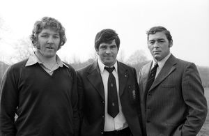 The famous Pontypool front row - Graham Price, Bobby Windsor and Charlie Faulkner