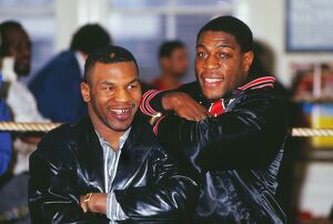 Frank Bruno and Mike Tyson