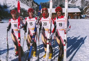 Great Britain men's ski team - 1988 FIS World Cup - Val d'Isere