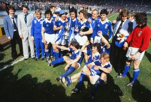 Ipswich Town celebrate winning the 1978 FA Cup Final