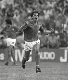 Italy's Marco Tardelli celebrates his goal in the 1982 World Cup Final