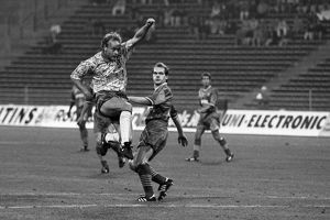 Jeremy Goss scores his famous volley against Bayern Munich in 1993 +