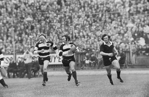 John Dawes makes a break in the build-up to the Barbarians famous try against New