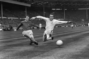 Johnny Giles and Richie Norman during the 1963 FA Cup Final