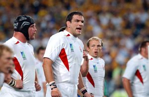 Martin Johnson during the 2003 World Cup Final