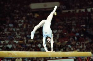 Nadia Comaneci at the 1976 Montreal Olympics