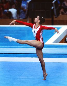 Nellie Kim at the 1980 Moscow Olympics