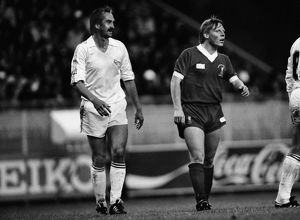 Real Madrid's Uli Stielike and Liverpool's Sammy Lee - 1981 European Cup Final