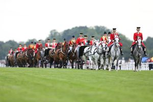 The Royal Procession at Royal Ascot 2012
