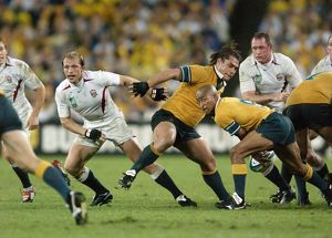 The two scrum halves in the 2003 World Cup final