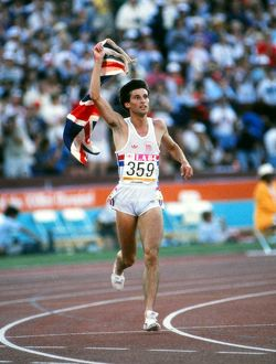 Seb Coe wins 1500m gold - 1984 Los Angeles Olympics