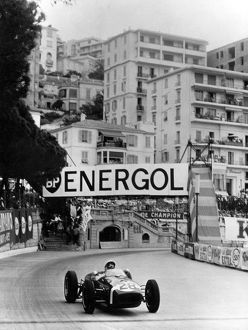 Stirling Moss on the way to winning the 1960 Monaco Grand Prix in his Lotus Climax +
