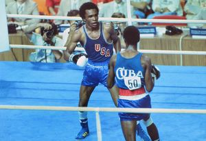 Sugar Ray Leonard at the 1976 Montreal Olympics