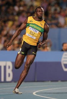 Usain Bolt at the 2011 World Championships