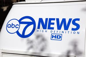 ABC 7 news van, Chicago, Illinois, America