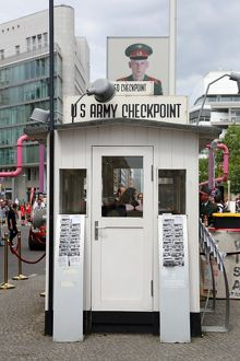 US Army Checkpoint Charlie border crossing in Berlin, Germany