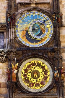 The Astronomical Clock or Orloj, Old Town City Hall in Prague