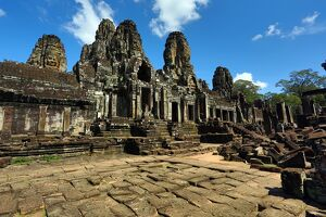 Bayon, Khmer Temple in Angkor Thom, Siem Reap, Cambodia