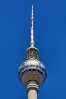 Berlin TV Tower, Fernsehturm, television tower in Berlin, Germany