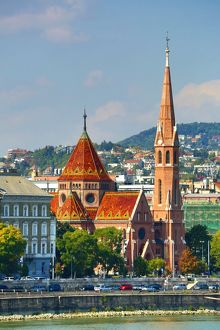 The Buda Calvinist Church in Budapest, Hungary