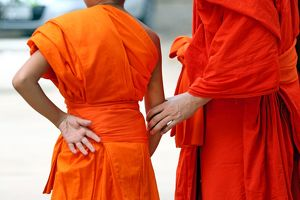 Buddhist Monks, Vientiane, Laos