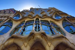 Casa Batllo Modernist house designed by Gaudi in Barcelona, Spain
