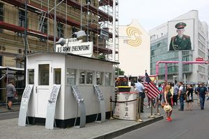 Checkpoint Charlie border crossing in Berlin, Germany