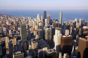 Chicago city skyline, Illinois, America