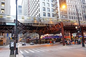 Chicago CTA train tracks, Illinois, America