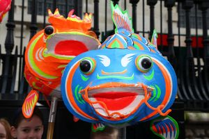 Chinese New Year Parade 2015 for the Year of the Sheep or Goat, London