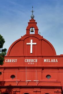 Christ Church in Dutch Square, known as Red Square, in Malacca, Malaysia