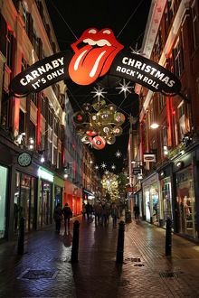 Christmas Lights and decorations in Carnaby Street, London