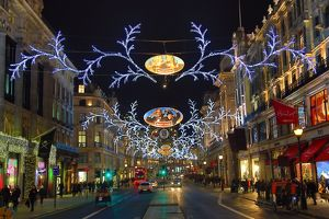 Christmas lights and decorations in London, England