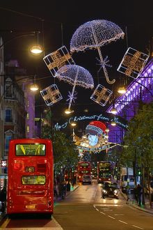 Christmas Lights and decorations in Oxford Street, London
