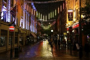 Christmas Lights and decorations in Seven Dials, London