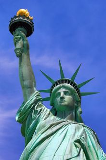 Close up of the Statue of Liberty, New York City, New York, USA