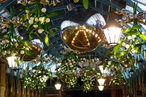 Covent Garden Mistletoe Christmas decorations and lights, London