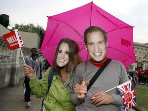 Crowds at the Royal Wedding of Prince William and Kate Middleton, London, England