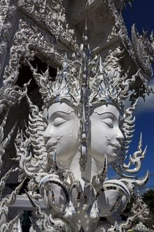 Face decoration at Wat Rong Khun, The White Temple, Buddhist Temple, Chiang Rai, Thailand